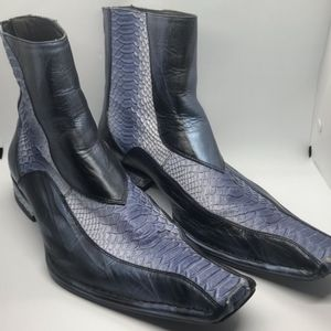 Impulse by Steeple Gate Leather & Snake Skin Boots
